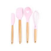 pink utensils